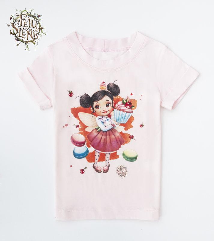 """Marškinėliai ,,Keksiukų fėja"""" - rožiniai"""