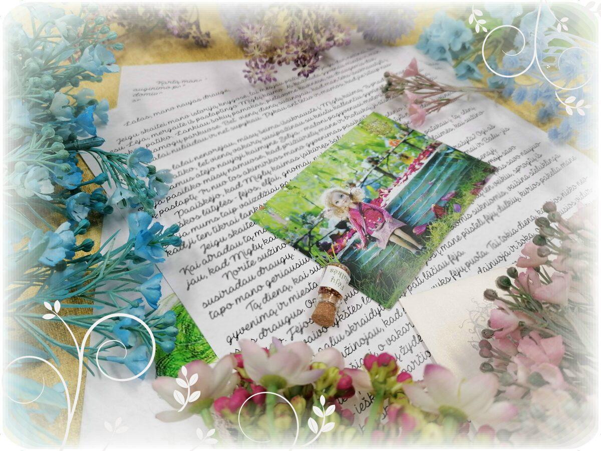Laiškas ir dovana dėžutėje nuo pasakų herojės mergaitės Lėjos