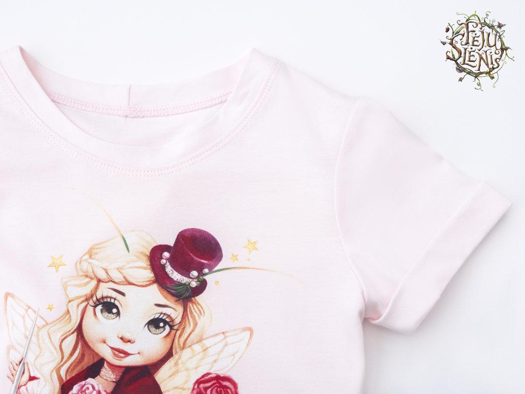 """Marškinėliai ,,Skrybėlaičių fėja"""" - Rožiniai"""