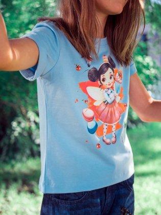 Marškinėliai ,,Keksiukų fėja'' - Žydri
