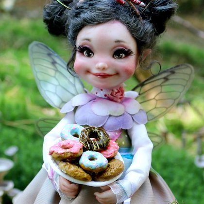 fairy doll of cupcakes